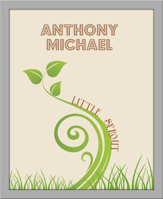 Little Sprout Nursery Art Print II