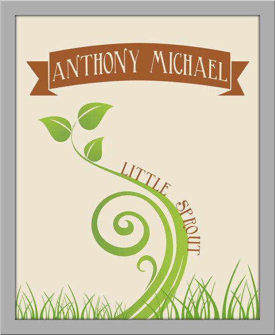 Little Sprout Nursery Art Print