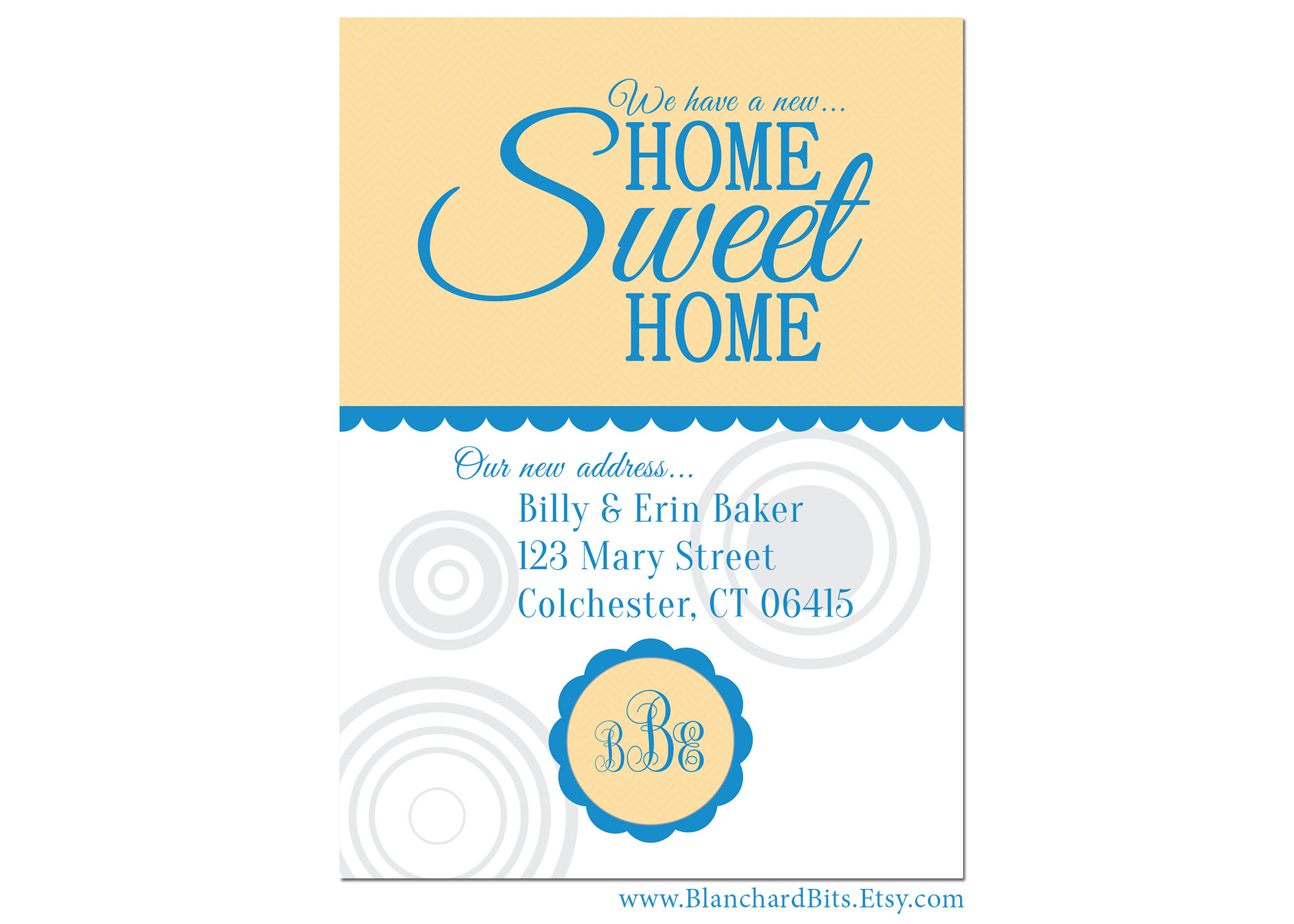 moving announcement home sweet home display II