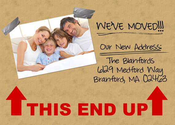 unique and fun moving announcement postcard