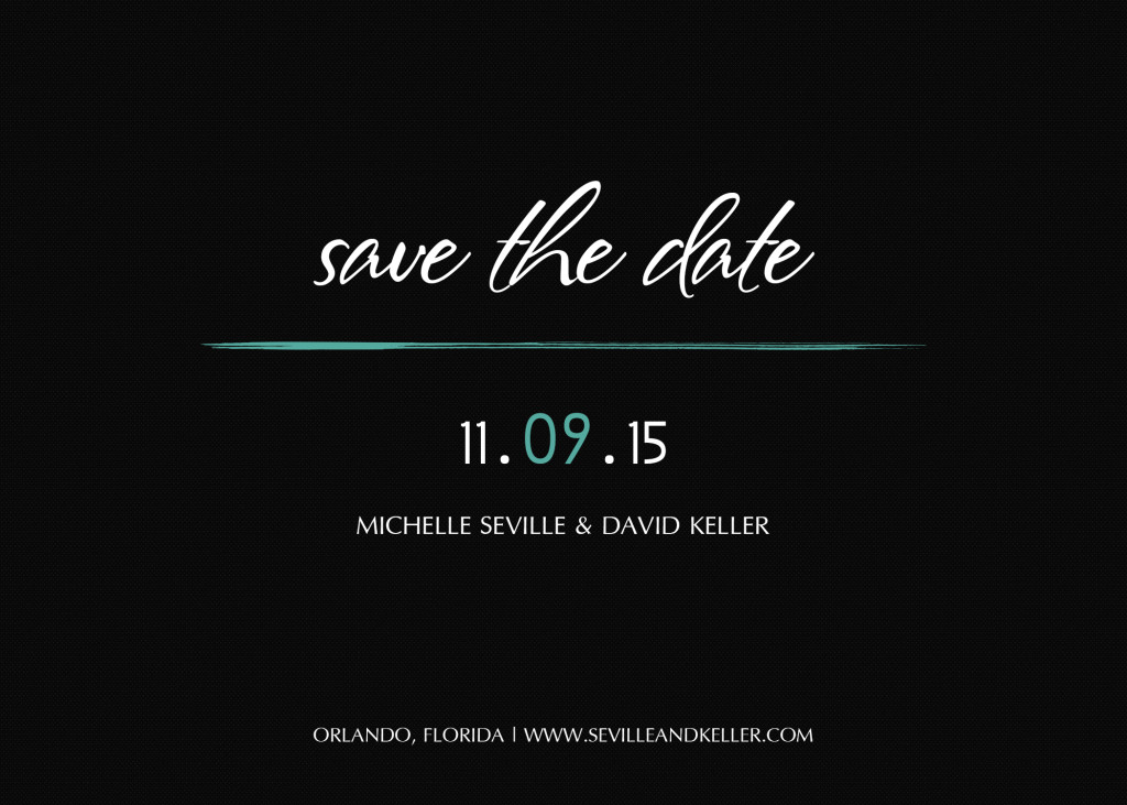 Modern Save the Date Wedding Announcement