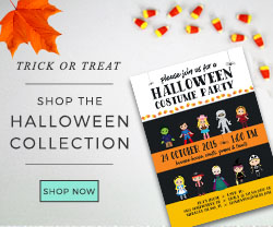 Shop Kid's Halloween Invitations